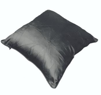 Funda de cojín de seda gris 40 x 40 - 2
