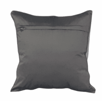 Funda de cojín de seda gris 40 x 40 - 3