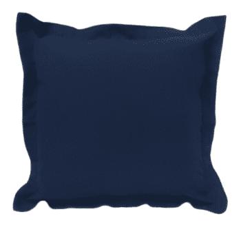 Funda cojín azul marino con pestaña 45 x 45