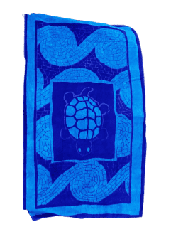 Toalla de playa azul tortuga 100x180