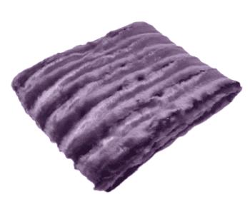Manta sofá acanalada pelo morado