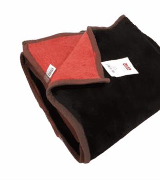 Mantas gruesas reversibles marrón
