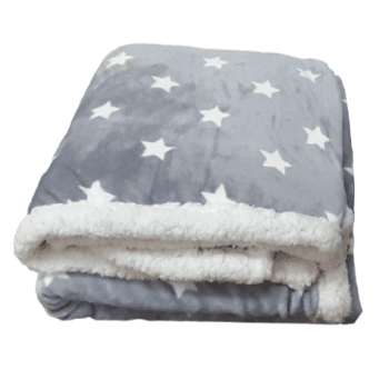 Manta estrellas gris 160 x 220