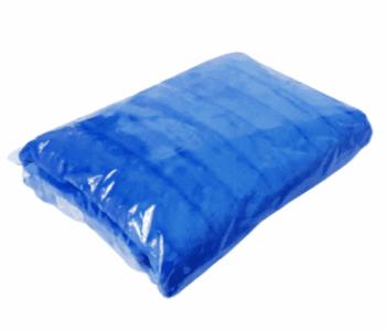 Manta sofá terciopelo azul
