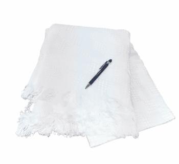 Plaid algodón blanco 120 x 170 cm