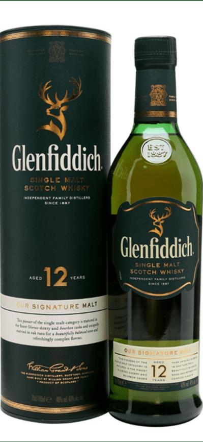 Whisky Malta 12 Glenfiddich 70 cl