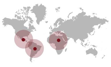 Mapa origen cafe lavazza