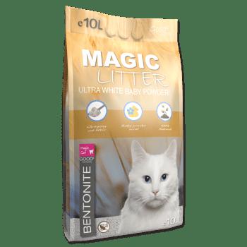 MAGIC CAT LITTER ULTRA WHITE BABY POWDER - 1