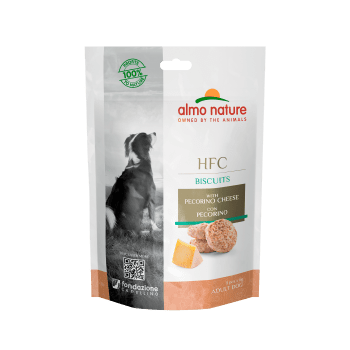 DOG HFC BISCUITS SNACK CON QUESO PECORINO