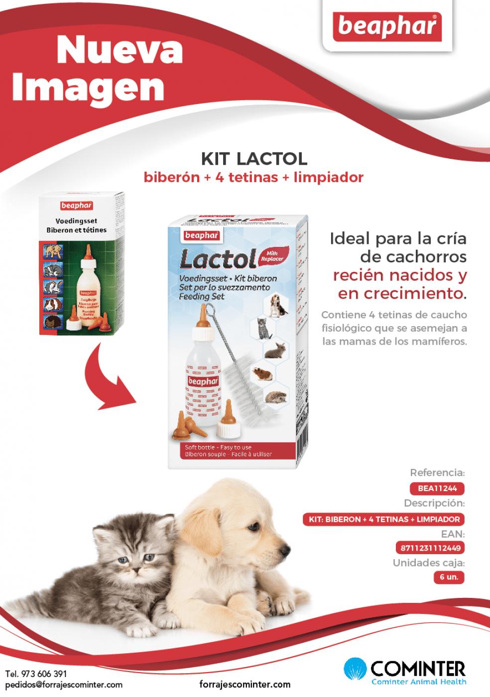 nueva imagen kit lactol beaphar