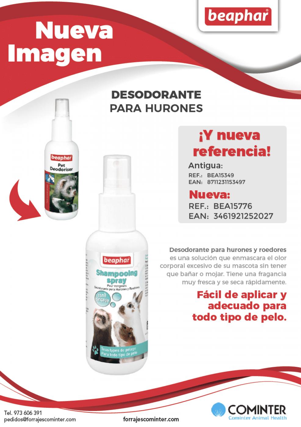 Nueva imagen desodorante hurones y roedores Beaphar