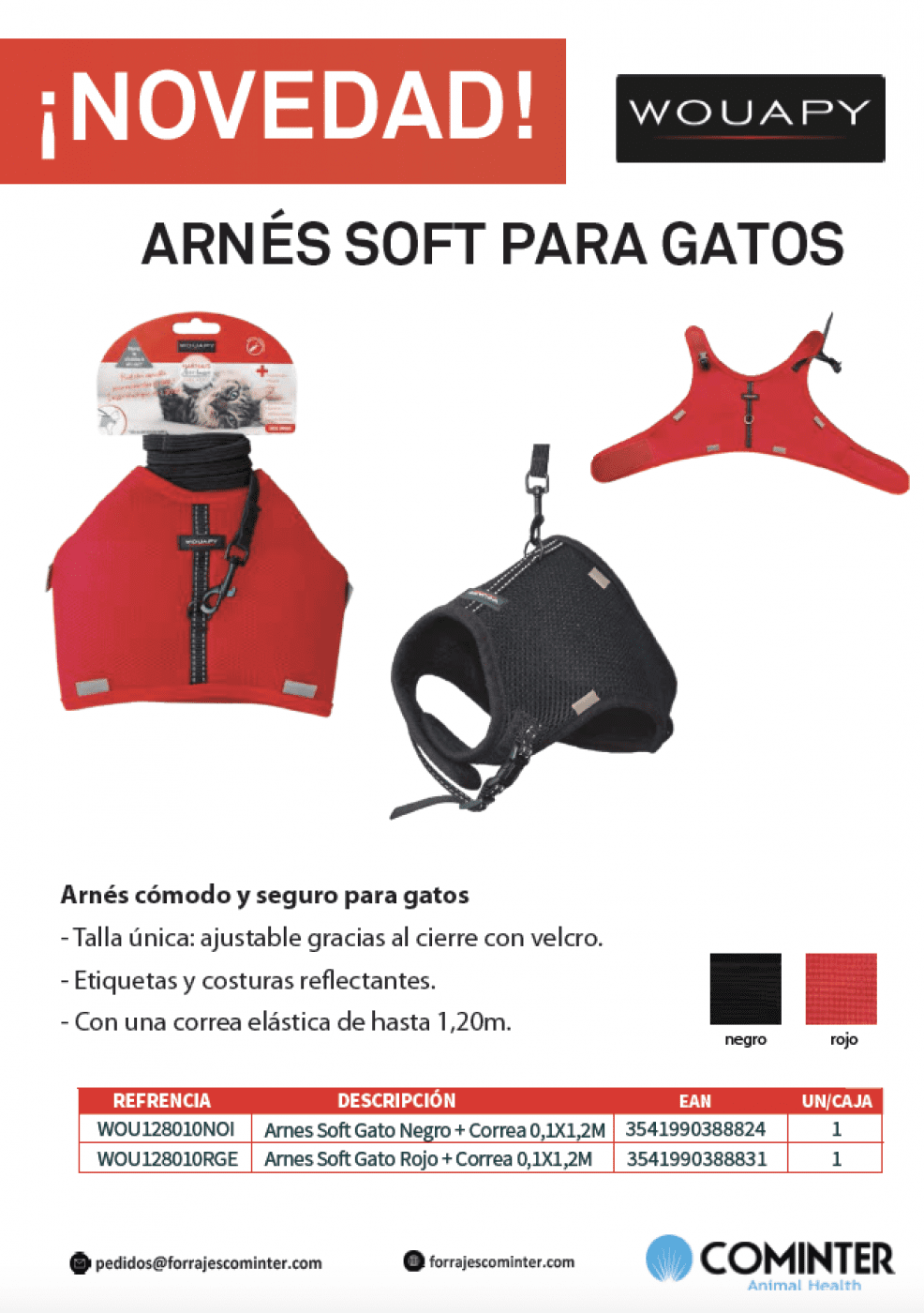 Novedad Arnes Soft Gato