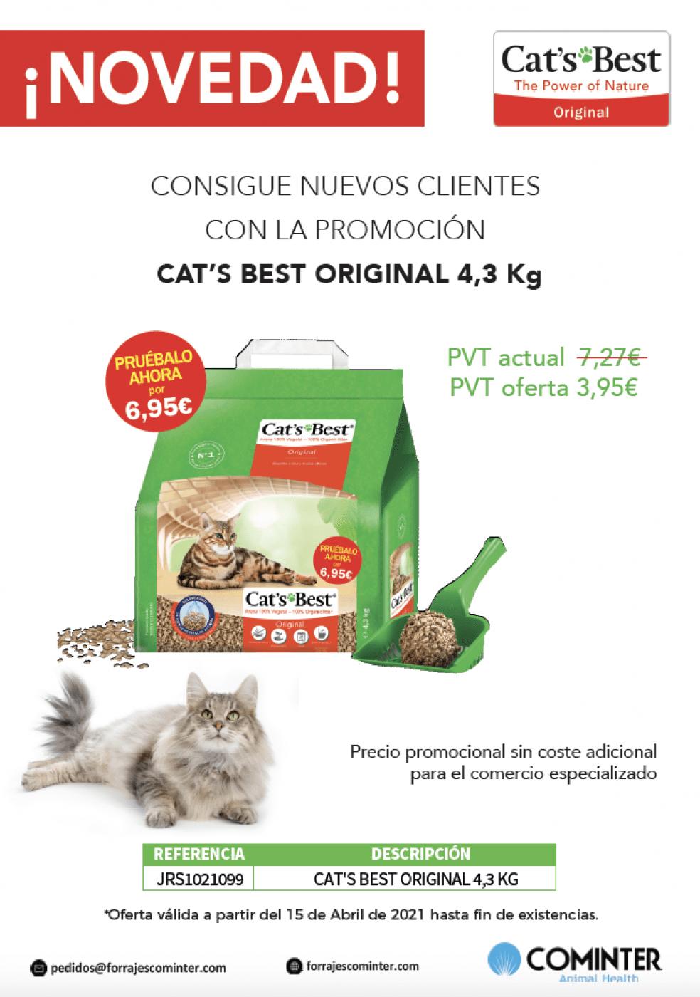 Novedad Promoción Cat's Best 4,3Kg