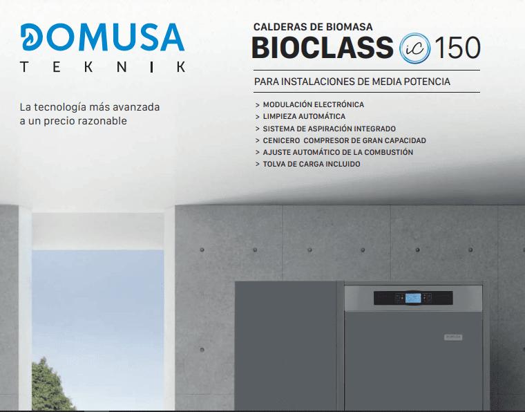 Caldera Pellet 150kW Domusa, Aplicación Residencial, Industrial y Residencial