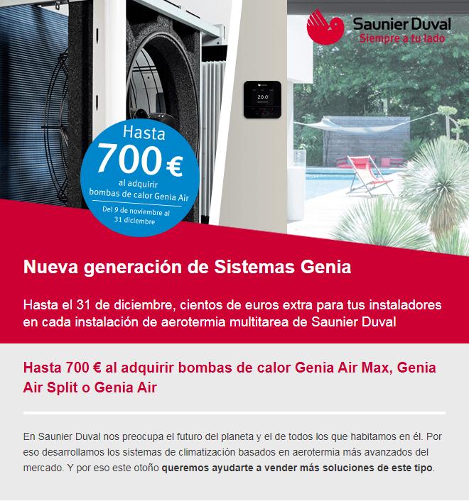 Promoción Instalador / Hasta 700€ Instalando Saunier Duval