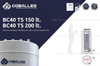 Interacumulador Coballes BC40 TS de 150 y 200L con tomas superiores - 10 años de garantía