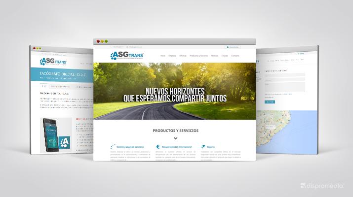 Nou projecte web per a l'empresa Asg Trans