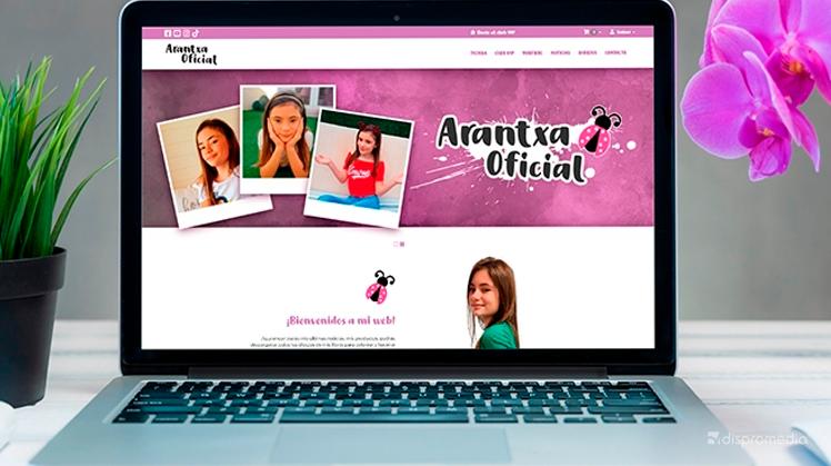 Presentación del nuevo sitio web de Arantxa Oficial