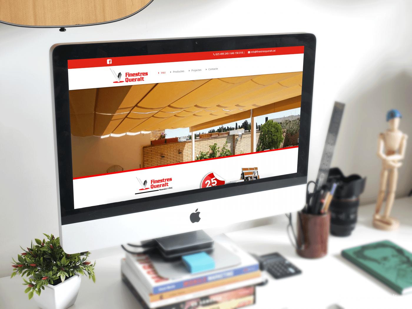 Nova pàgina web per a l'empresa Finestres Queralt