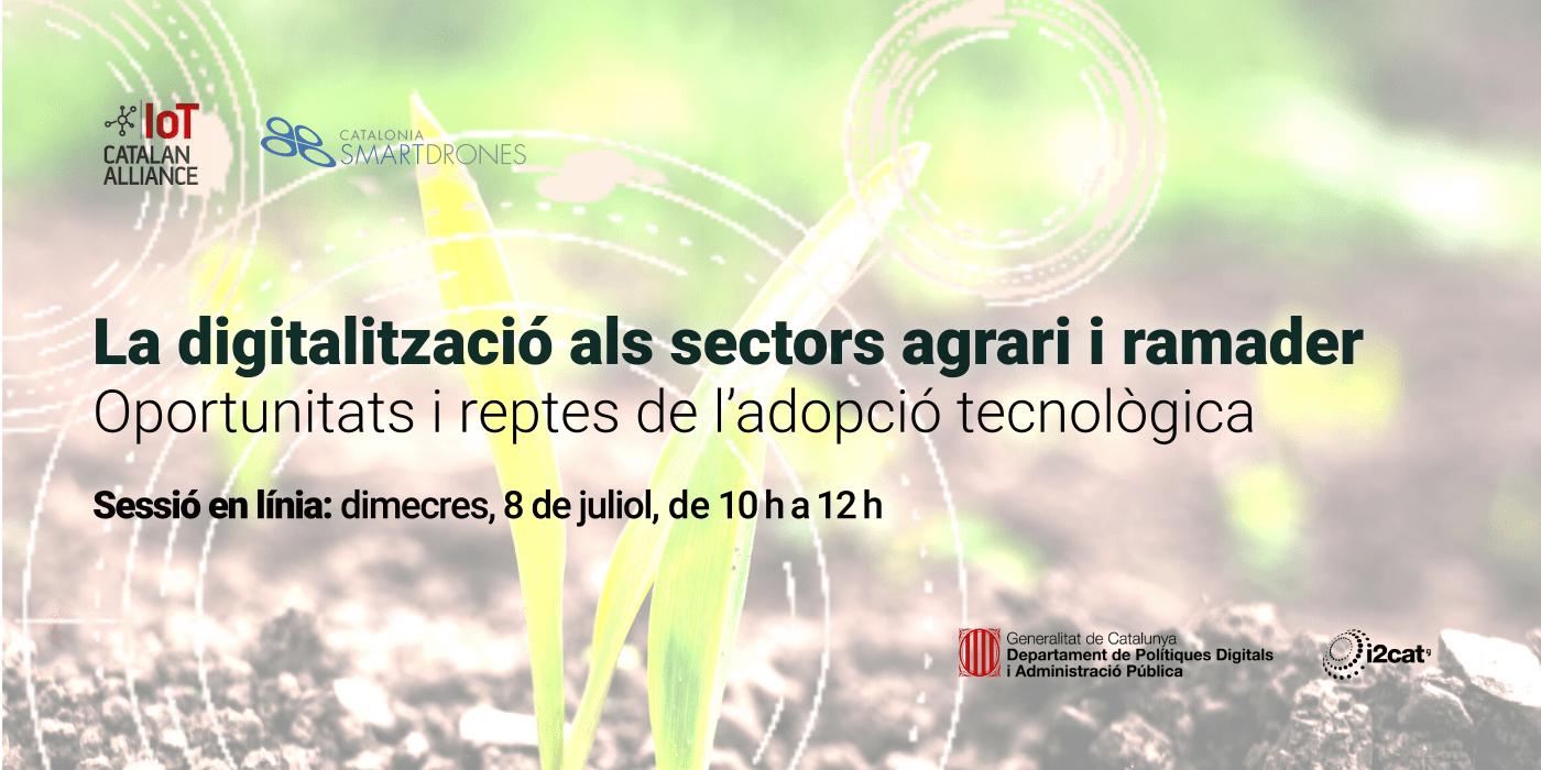 Jornada de difusió - La digitalització als sectors agrari i ramader