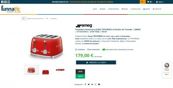 Tostadora SMEG TSF03RDEU en Stock | 6 Niveles de Tostado | 2000W | 3 Funciones | Color Rojo | Espectacular & Funcional
