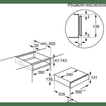 Cajón Calientaplatos AEG KDE911424M | Inox Antihuellas | Combinable con Hornos Compactos AEG - 2