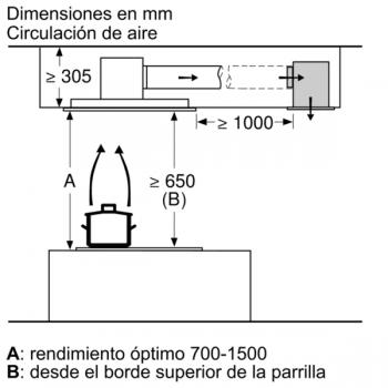 Extractor de Techo Siemens LR27CBS20 Blanco de 120 cm con una potencia de 798 m³/h   WiFi Home Connect   Motor iQdrive Clase A   iQ500 - 11