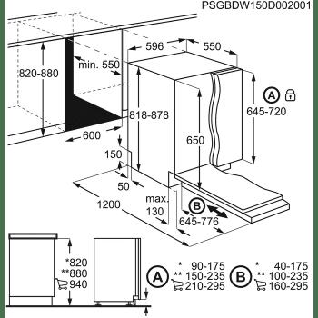 Lavavajillas Integrable AEG FSB53907Z de 60 cm, para 14 cubiertos | 3ª bandeja para cubiertos | Clase D - 5