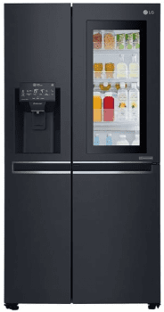 Side by Side LG GSX960MCVZ Frigorífico Americano Negro | Dispensador con Toma | Premium | Instalación Premium LG | Clase F