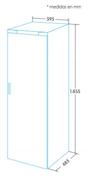 EDESA EFS-1822 NF EX/A Frigoífico Vertical 1 Puerta | Luz LED | No Frost | 1855 x 595 x 685 | A++ - 3