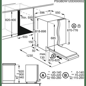 Lavavajillas Integrable AEG FSE83807P 60cm Inverter MYTIME ComfortLift AirDry SoftGrips 13 cubiertos 42dB A+++ - 10