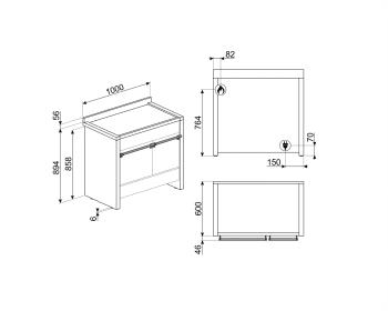 SMEG A2-81 Cocina a Gas | Diseño OPERA 100 x 60 | 2 Hornos | Acero Inox | Envío Gratis - 4