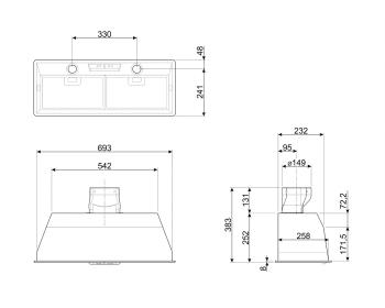 Grupo Filtrante SMEG KSEG7XSA en Acero Inoxidable, de 70 cm a 691 m³/h   Envío Gratis - 2