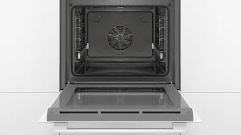 Horno Bosch HBA5360W0 Blanco de 60 cm con 10 recetas pre-programadas Gourmet y calentamiento 3D Profesional | Clase A | Serie 6 | Stock - 3