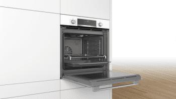 Horno Bosch HBA5360W0 Blanco de 60 cm con 10 recetas pre-programadas Gourmet y calentamiento 3D Profesional | Clase A | Serie 6 | Stock - 4