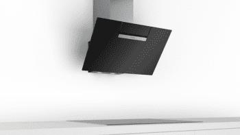 Campana decorativa de pared Bosch DWK87EM60 en Cristal Negro de 80 cm a 669 m³/h | B | Serie 2 - 2