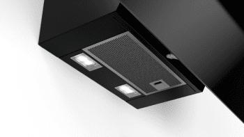 Campana decorativa de pared Bosch DWK87EM60 en Cristal Negro de 80 cm a 669 m³/h | B | Serie 2 - 4