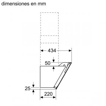 Campana decorativa de pared Bosch DWK87EM60 en Cristal Negro de 80 cm a 669 m³/h | B | Serie 2 - 7