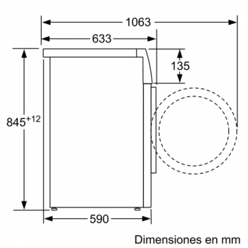 Bosch WAU28PHXES Lavadora Carga Frontal | 9 Kg 1400 rpm | I-Dos | Pausa + Carga | WiFi HomeConnect | A+++ -30% - 7