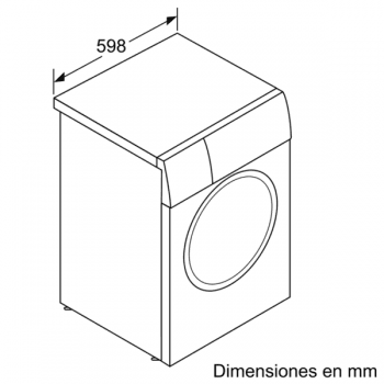 Bosch WAU28PH1ES Lavadora Carga Frontal | 9 Kg 1400 rpm | I-Dos | Pausa + Carga | WiFi HomeConnect | A+++ -30% - 6