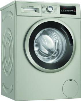 Bosch WAN2427XES Lavadora Carga Frontal 60 cm Acero Mate Antihuellas | 7 Kg 1200 rpm | Pausa + Carga | A+++ -10% | Serie 4