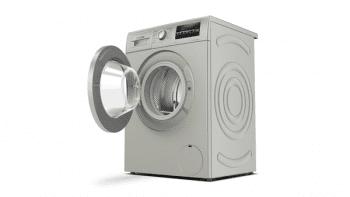 Bosch WAN2427XES Lavadora Carga Frontal 60 cm Acero Mate Antihuellas | 7 Kg 1200 rpm | Pausa + Carga | A+++ -10% | Serie 4 - 2