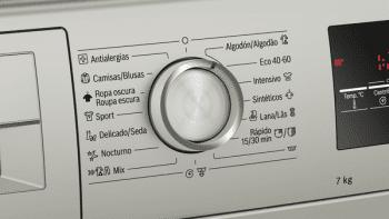 Bosch WAN2427XES Lavadora Carga Frontal 60 cm Acero Mate Antihuellas | 7 Kg 1200 rpm | Pausa + Carga | A+++ -10% | Serie 4 - 3