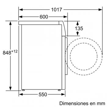 Bosch WAN2427XES Lavadora Carga Frontal 60 cm Acero Mate Antihuellas | 7 Kg 1200 rpm | Pausa + Carga | A+++ -10% | Serie 4 - 7