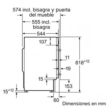 Bosch WIW28301ES Lavadora Integrable Blanca 8 kg 1400 rpm | Pausa + Carga | A+++ -20% | Serie 6 - 5