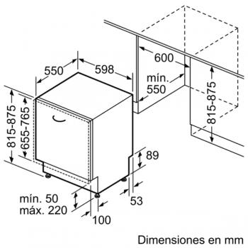 Bosch SME68TX26E Lavavajillas Integrable de 60 cm | Secado mediante Zeolitas | 14 servicios | WiFi HomeConnect | A+++ -10% - 9