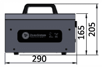 OZ-H 80 Cañón Generador de Ozono OP-8 8gr/h Portátil con Temporizador | Certificado | Stock - 6