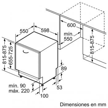 Bosch SMV46NX03E Lavavajillas Integrable de 60 cm | 14 servicios | EcoSilence | A++ - 8