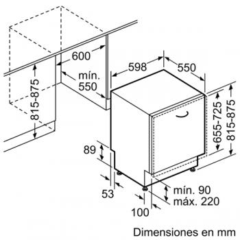 Bosch SMV46NX03E Lavavajillas Integrable de 60 cm | 14 servicios | EcoSilence | A++ - 9