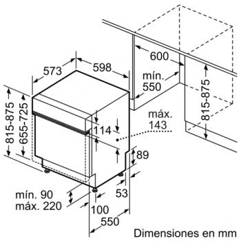 Bosch SMI46NS01E Lavavajillas Integrable de 60 cm | 13 servicios | EcoSilence | A++ - 6